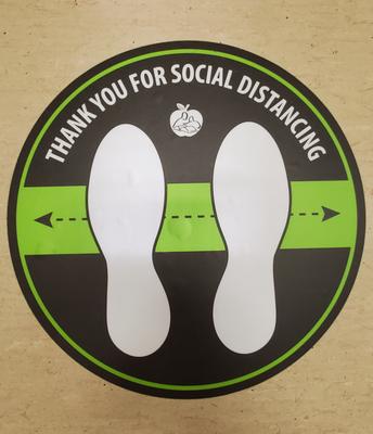 Social Distancing Sticker