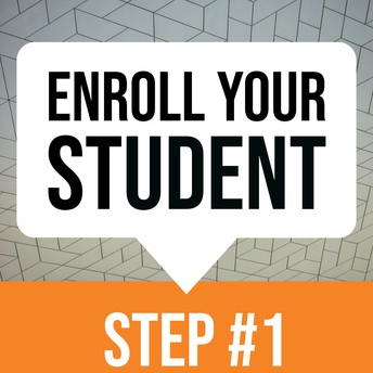 Enroll Your Student Online graphic