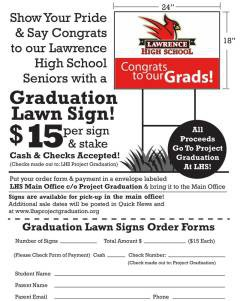 Support our Grads with a Lawn Sign