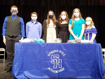 8th Grade Inductees