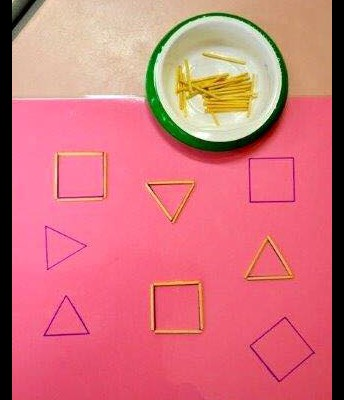 Create shapes with toothpicks