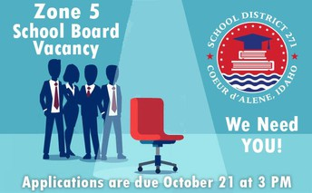 Applications for school board vacancy due October 21