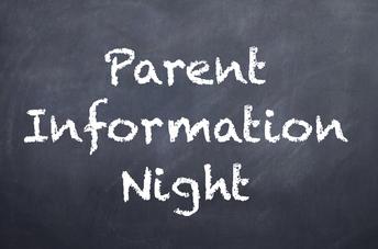 Parent Information Night - January 31, 6:30 - 8:00