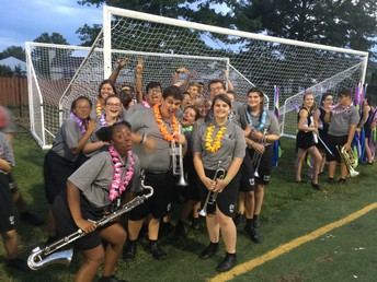 Marching Band students were excited to debut their halftime show tribute to the band Queen at the opening football game.