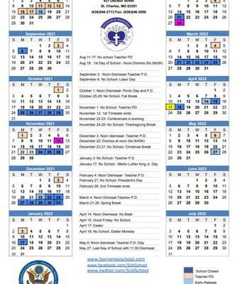 YEP! 2021-2022 School Calendar