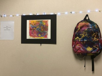 Mr. McCraw turns art into backpack art!
