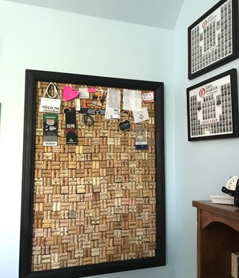 Kara made this cork board from old wine corks!