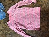 Striped pink Cherokee T size 6-6x