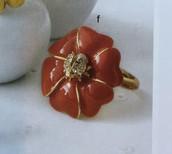 NEW! Bloom flower ring