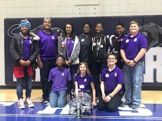 Congratulations to the Robotics Team for winning the tournament last weekend! Good luck preparing for state championship in two weeks!