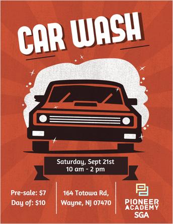 SGA Fundraiser, Saturday 9/21