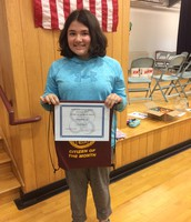 PCS 6th grade Citizen of the Month