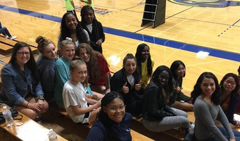 Volleyball Fans at Goucher
