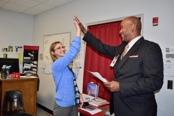 Ms. Smith gets a High Five!