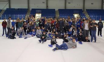 8th-grade class Ice Skating Trip