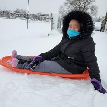 ...and full of slippery sledding smiles 🛷