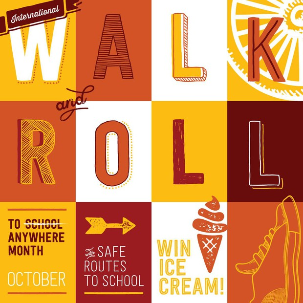 International Walk & Roll to Anywhere Month This October!