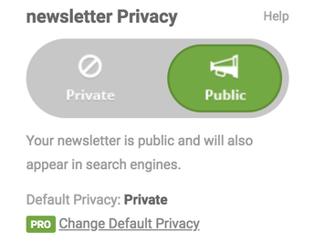 Newsletter Privacy