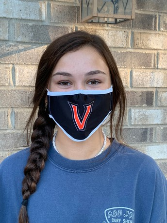 student wearing Valley mask