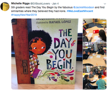 Mrs. Riggs Reads The Day You Begin by Jacqueline Woodson