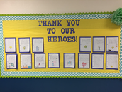 Mrs. Bradley's Classroom writing about their heros!
