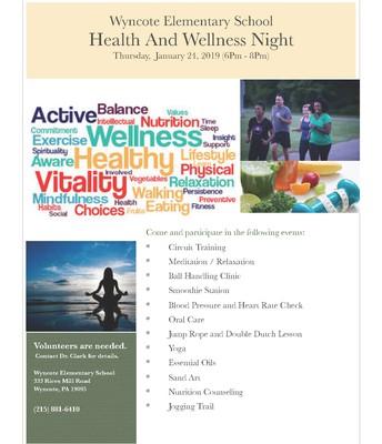 Health & Wellness Night