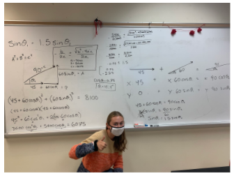 A vector problem with a complicated solution and a motivated Gillian.