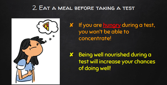Eat a meal before taking the test