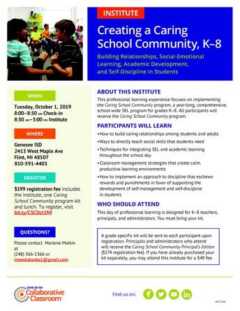 Creating a Caring School Community