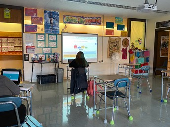 Mrs. Taylor's Class Plays Kahoot to review holiday traditions in different cultures that speak Spanish