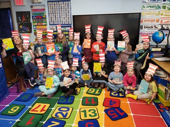 Kindergarten learning about Dr. Seuss