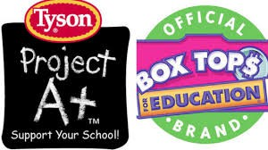 Please remember to save and send Box Tops for Education and Tyson A+ chicken points!