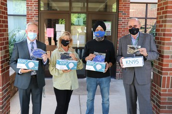 WBSD accepts mask donation from Rotary