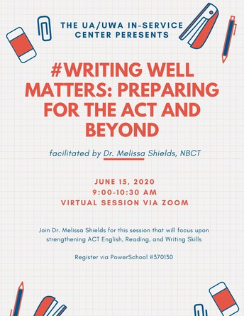 Writing Sessions for K-12 Educators! Join Dr. Melissa Shields for 2 opportunities in June!