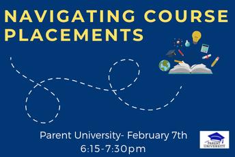 Parent University: Navigating Course Placements