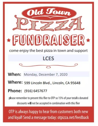 Monday - Old Town Pizza Dine Out!