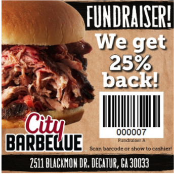 PTO Fundraiser at City Barbeque