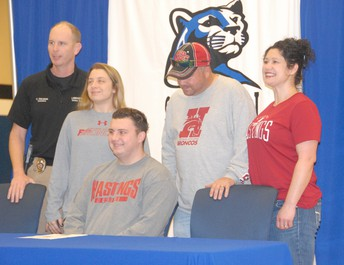 Tanner C. signs with Hastings College in Nebraska