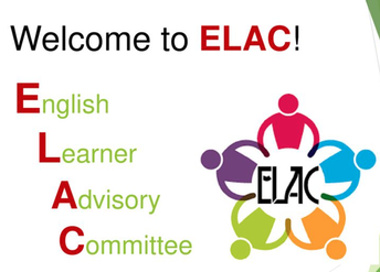 ELAC- First meeting on October 30th at 8:00 am!