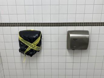 Hand dryers in bathrooms