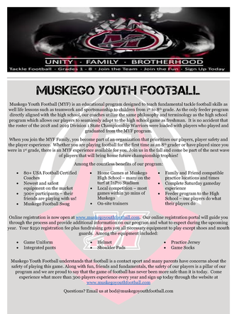 Muskego Youth Football Registration