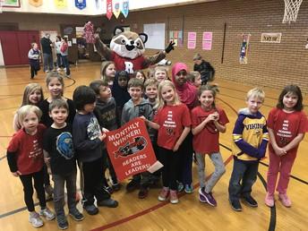 Mrs. Carroll's Class Wins the Reading Banner