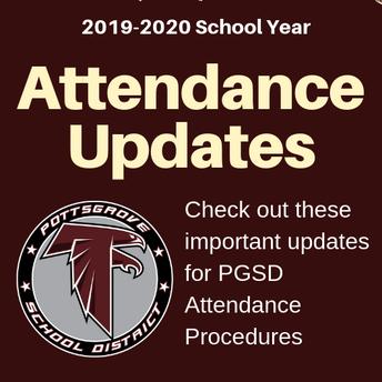 Attendance Updates for 2019-2020 School Year