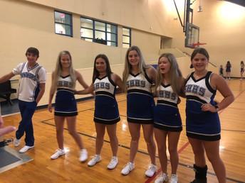 The High School Varsity Cheerleaders visited today!