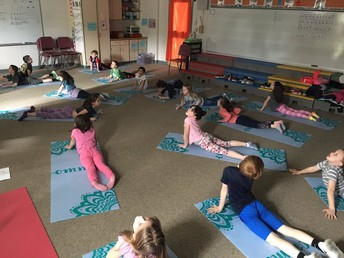 Thank you to the PTO for the yoga mats! Before school yoga offerings for grades K-6 start in May!
