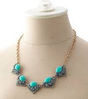 Rory Necklace-Blue