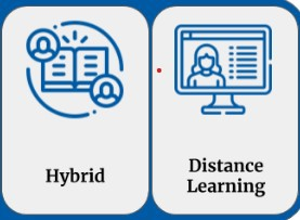 What is the difference between Hybrid Learning and Digitial (Distance) Learning?