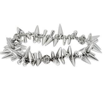 Silver Renegade Cluster Bracelet
