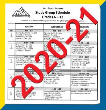 Choosing Classes for 2020-21