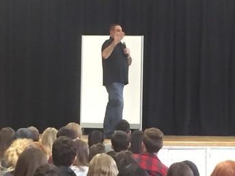 Ray Lozano speaks to students...